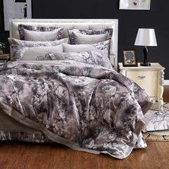 丝棉床盖多件套 加大 曼妙花香