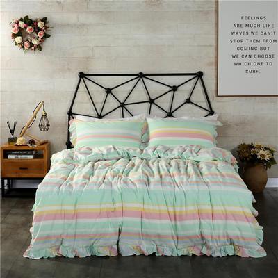 水洗棉床裙款四件套系列(时光) 1.5m(5英尺)床 时光