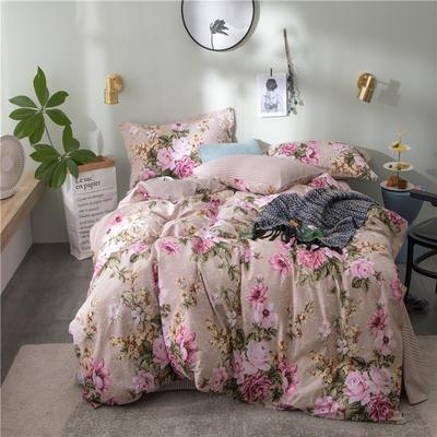2018新款 全棉133*72圆网四件套 1.35m床及以下 醉花都