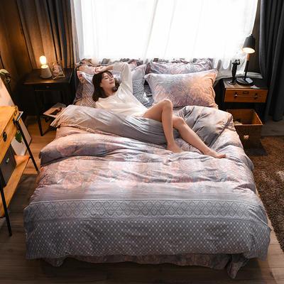 2018A5D雕花绒B水晶绒四件套 1.8m床四件套 欧思恋