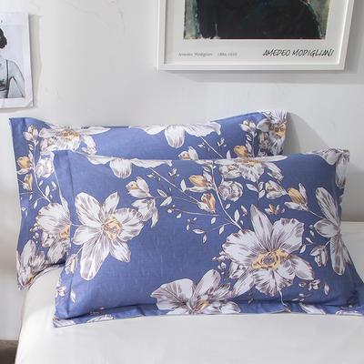 2018新款全棉印花枕套一对 48cmX74cm 一览芬芳