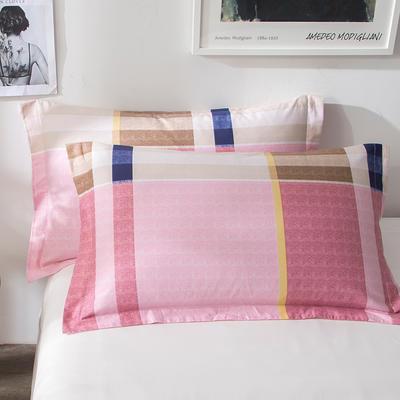 2018新款全棉印花枕套一对 48cmX74cm 优格 粉
