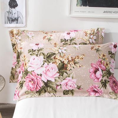 2018新款全棉印花枕套一对 48cmX74cm 醉花都