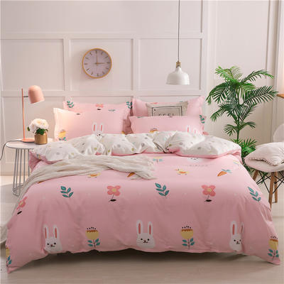 2019新品12868全棉印花四件套 1.2m(4英尺)床 可可兔