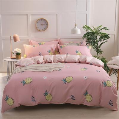 2019新品12868全棉印花四件套 1.5m(5英尺)床 小菠萝