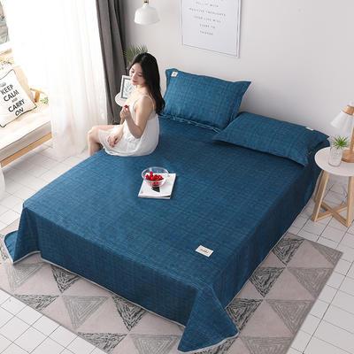 2019新款床单款凉席三件套 180X230 肌理-蓝