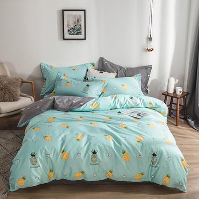 2019新款全棉12868四件套 1.2m床单款四件套 菠萝物语 蓝