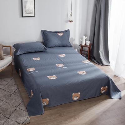 2019新款全棉12868单床单 160X230 布朗熊