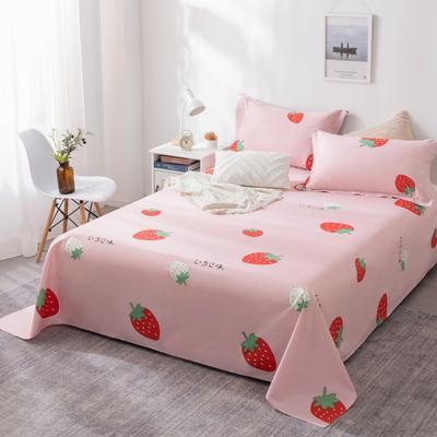 2020新款全棉12868床单床单 120X230 甜心草莓