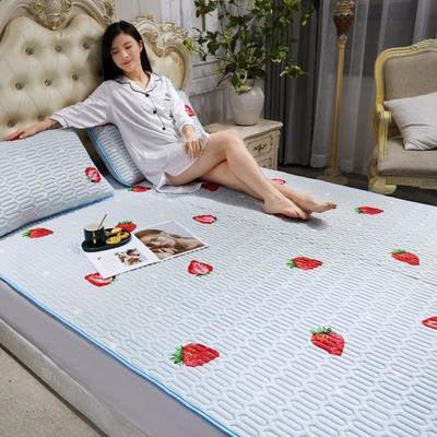 2020新款乳胶床护凉席 120X200床 草莓—灰
