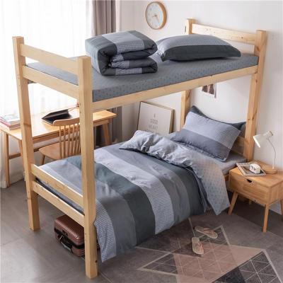 2020新款全棉学生宿舍三件套 1.2m床单款三件套(床单130X230) 安蒂亚