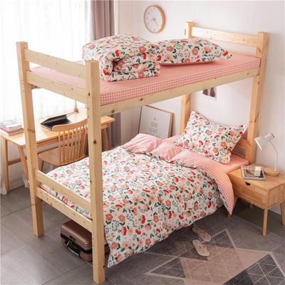 2020新款全棉学生宿舍三件套 1.2m床单款三件套(床单150X230) 蜜糖花语
