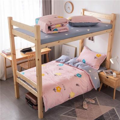 2020新款全棉学生宿舍三件套 1.2m床单款三件套(床单150X230) 香奈 粉