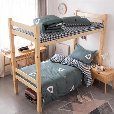 2020新款全棉学生宿舍三件套 1.2m床单款三件套(床单130X230) 英伦时尚