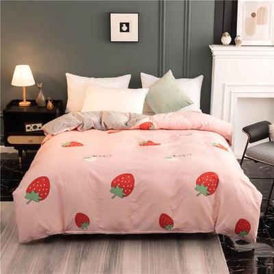 2020新款棉加绒AB款印花系列--单被套 180x220cm单被套 甜心草莓