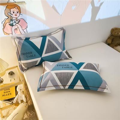 2020新款全棉加厚133X72系列(单枕套) 48*74cm/对 卡特娅