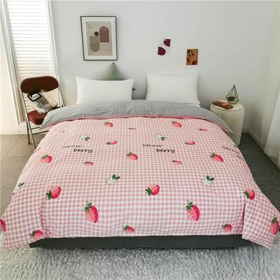 2020新款全棉加厚133X72系列(单被套) 150x200cm单被套 草莓格