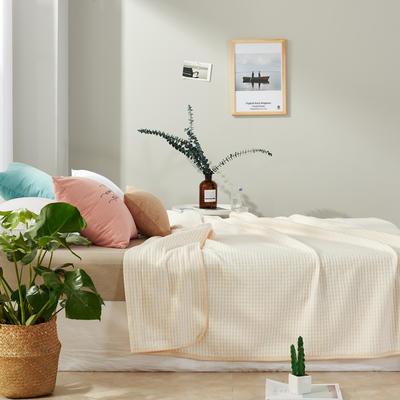 2017 新款天竺棉夏被细条纹系列 100*150cm 细条咖
