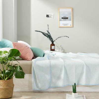 2017 新款天竺棉夏被细条纹系列 100*150cm 细条蓝