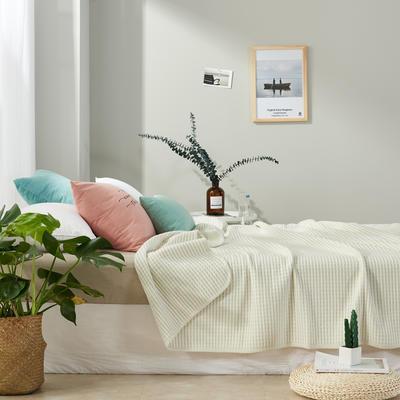 2017 新款天竺棉夏被细条纹系列 100*150cm 细条绿
