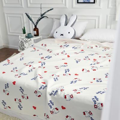 2017 新款天竺棉印花系列夏被 100*150cm HELLO-KITTY
