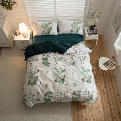 棉加绒四件套 1.2m(4英尺)床 阡陌丛林-套
