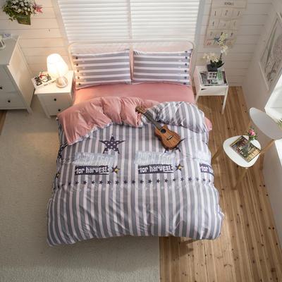 棉加绒四件套 1.2m(4英尺)床 玄烨-粉