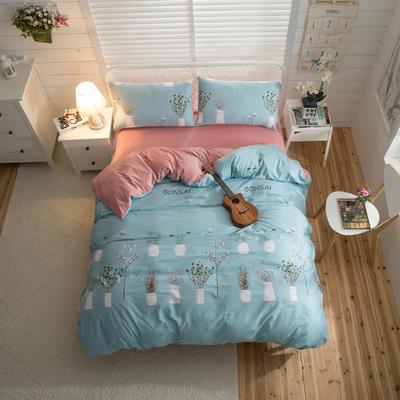 棉加绒四件套 1.2m(4英尺)床 叶语花香
