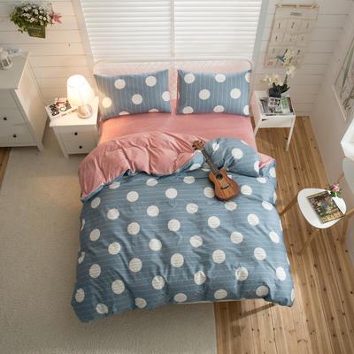 棉加绒四件套 1.2m(4英尺)床 页语-兰-套