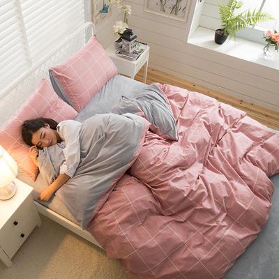 A版全棉活性印花 B版加厚水晶绒保暖四件套 1.2m(4英尺)床) 阿森斯-红
