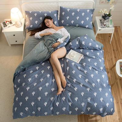 A版全棉活性印花 B版加厚水晶绒保暖四件套 1.2m(4英尺)床) 淡然如风