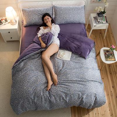 A版全棉活性印花 B版加厚水晶绒保暖四件套 1.2m(4英尺)床) 绮丽儿-兰