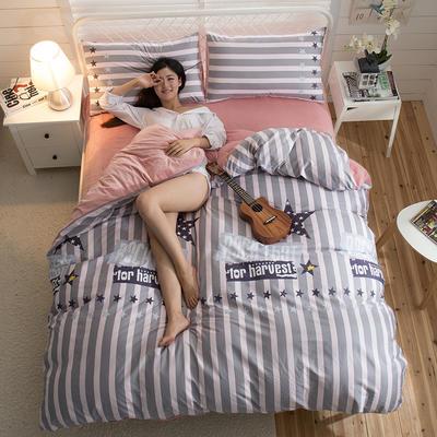 A版全棉活性印花 B版加厚水晶绒保暖四件套 1.2m(4英尺)床) 玄烨-粉