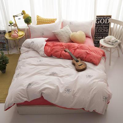 棉加绒四件套 1.2m(4英尺)床 少女心