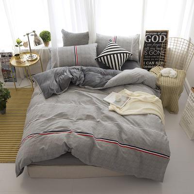 棉加绒四件套 1.2m(4英尺)床 运动热潮
