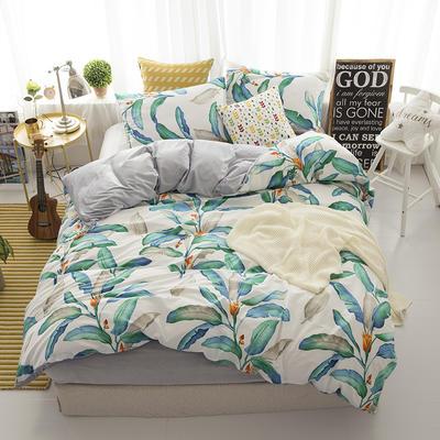 棉加绒四件套 1.2m(4英尺)床 真情叶语