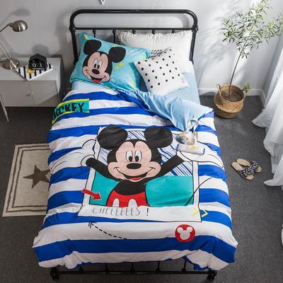 2018新款大版卡通活性保暖三件套 1.2m(4英尺)床 快乐米奇