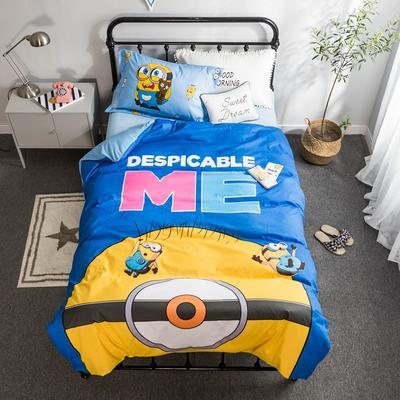 2018新款大版卡通活性保暖三件套 1.2m(4英尺)床 小黄人