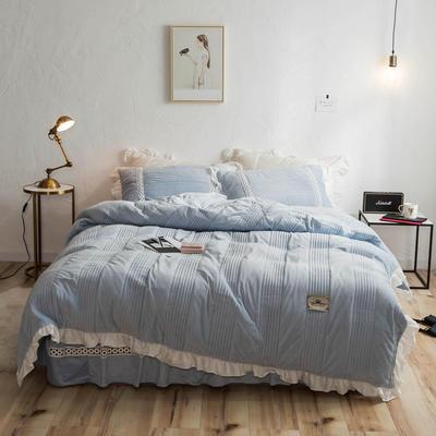 2018新款-韩风爆款安妮水晶绒宝宝绒毛绒四件套 1.5m(5英尺)床 安妮-兰