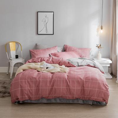 2019秋冬-棉加绒四件套 床单款三件套1.2m(4英尺)床 阿森斯-红