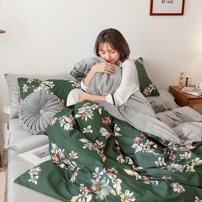 2019秋冬-棉加绒四件套 床单款三件套1.2m(4英尺)床 浮华