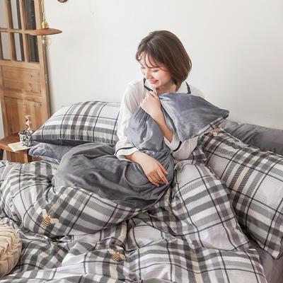 2019秋冬-棉加绒四件套 床单款三件套1.2m(4英尺)床 静美年华