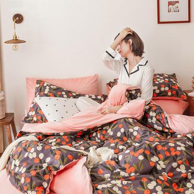 2019秋冬-棉加绒四件套 床单款三件套1.2m(4英尺)床 硕果