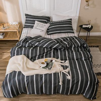 2019新款-全棉四件套 床单款四件套1.5m(5英尺)床 安珂