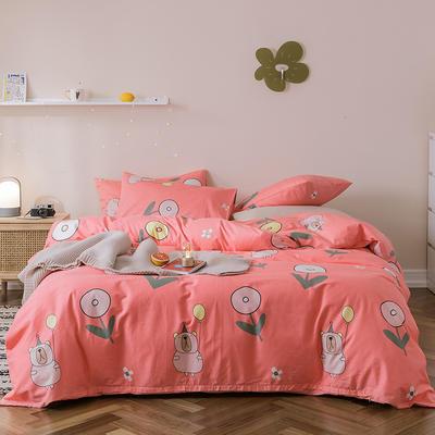 2019新款-全棉四件套 床单款四件套1.5m(5英尺)床 安妮