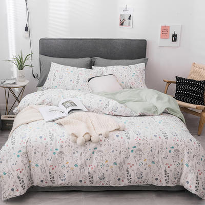 2019新款-全棉四件套 床单款四件套1.5m(5英尺)床 安妮尔