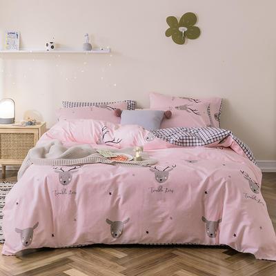 2019新款-全棉余额宝消费红包怎么提现 床单款三件套1.2m(4英尺)床 北欧麋鹿