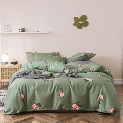 2019新款-全棉四件套 床单款四件套1.5m(5英尺)床 茶果