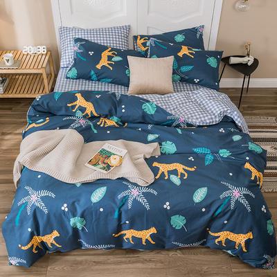 2019新款-全棉四件套 床单款四件套1.5m(5英尺)床 大堡礁