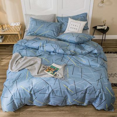2019新款-全棉四件套 床单款四件套1.5m(5英尺)床 零度